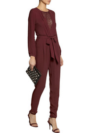 Paul & Joe Randy lace-trimmed crepe jumpsuit