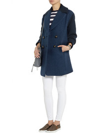 Paul & Joe Mavire two-tone textured wool-blend coat