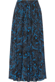 Paul & Joe Svetana printed silk-georgette maxi skirt