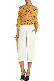 Paul & Joe Yseult printed Swiss-dot silk-georgette blouse