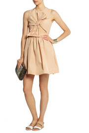 Carven Cutout shantung-faille dress