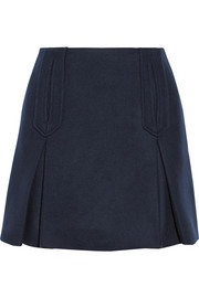 Carven Pleated wool-blend mini skirt