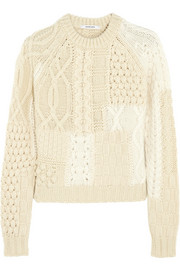 Carven Two-tone merino wool-blend sweater