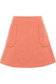 Carven Wool-crepe mini skirt