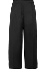 Carven Wool-gabardine wide-leg pants
