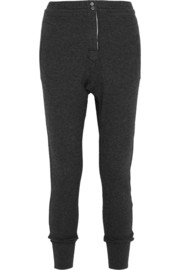 Nina cotton and wool-blend track pants