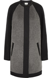Cazar brushed wool-blend felt coat