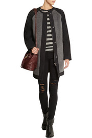 Étoile Isabel Marant Cazar brushed wool-blend felt coat