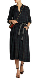 Étoile Isabel Marant Ivah plaid cotton midi dress
