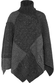 Raquel patchwork knitted cape