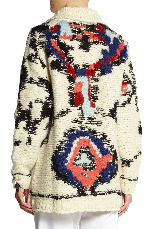 Isabel Marant Étoile Serra jacquard-knit wool-blend cardigan