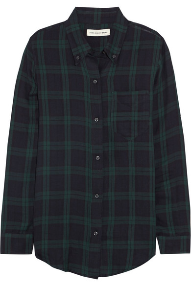isabel marant toile ipa plaid cotton twill shirt net. Black Bedroom Furniture Sets. Home Design Ideas