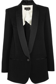 Isabel Marant Lahore satin-trimmed wool-blend canvas blazer