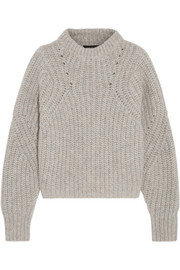 Isabel Marant Newt oversized mélange ribbed-knit sweater