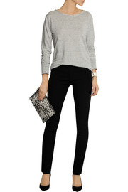 Isabel Marant Lecia satin-trimmed stretch-wool skinny pants