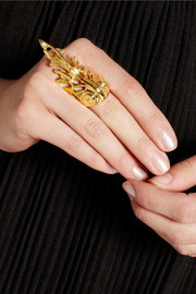 Yunus & Eliza Empire gold-plated ring
