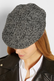 Dolce & Gabbana Herringbone wool-blend tweed flat cap