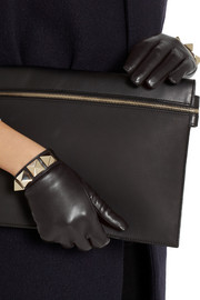Valentino Va Va Voom stud-embellished leather gloves