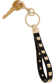 Valentino Rockstud leather keychain