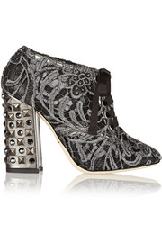 Vally embellished macramé ankle boots