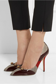 Dolce & Gabbana Bellucci embellished leather, suede and elaphe pumps