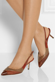Dolce & Gabbana Bellucci ayers and suede slingback pumps
