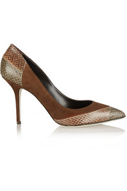Dolce & Gabbana Bellucci suede and watersnake pumps