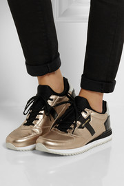 Dolce & Gabbana Nigeria metallic and patent-leather sneakers
