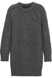 Cédric Charlier Chunky-knit alpaca-blend mini dress