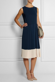 Cédric Charlier Two-tone crepe dress