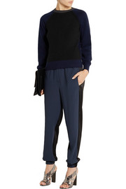 Cédric Charlier Contrast-knit wool sweater