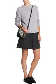 Cédric Charlier Pleated wool-blend mini skirt