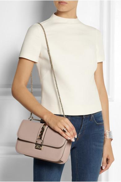 valentino lock medium leather shoulder bag net a porter com. Black Bedroom Furniture Sets. Home Design Ideas