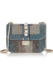 Valentino Glam Lock small embellished leather shoulder bag