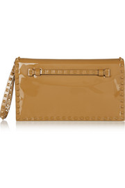 Valentino The Rockstud patent-leather clutch