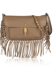Valentino Gryphon fringed leather shoulder bag