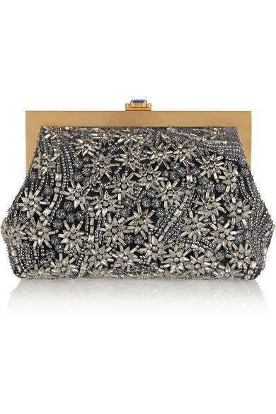 e3f22e6c00f Dolce & Gabbana   Swarovski crystal-embellished velvet clutch   NET ...