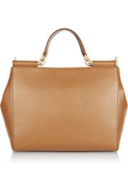 Sicily textured-leather tote