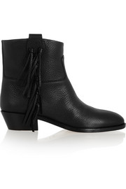 Valentino C-Rockee fringed leather ankle boots