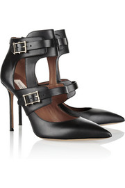 Valentino Hitch On cutout leather pumps
