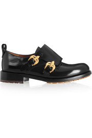 Valentino Double monk-strap leather loafers