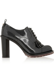 Valentino Lace-up patent-leather pumps