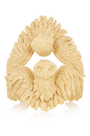 Valentino Owl gold-plated cuff