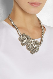 Valentino Roses silver-plated Swarovski crystal necklace