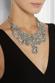 Valentino Silver-plated Swarovski crystal necklace