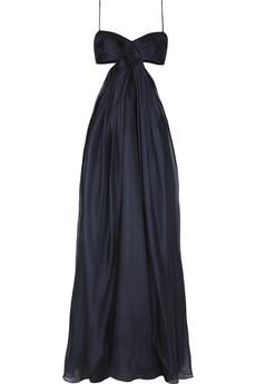 Diane von Furstenberg Plyssa silk cutout gown