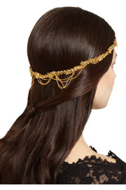 Jennifer Behr Annika gold-plated headband