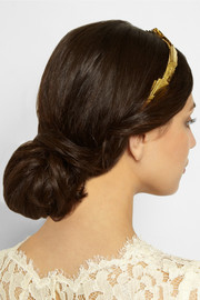 Jennifer Behr Dakota gold-plated headband