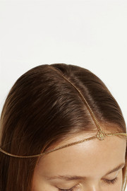 Jennifer Behr Iria Diadem gold-plated headpiece