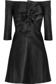 Carven Bow-embellished gazar mini dress